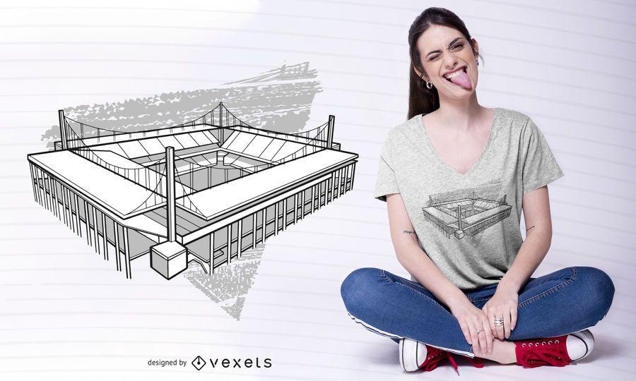 Design de t-shirt do estádio de Colônia