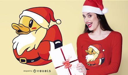 Diseño de camiseta de pato de goma de Santa