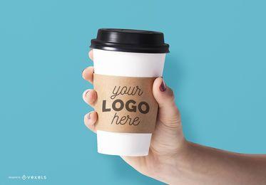 Mockup de taza de café psd