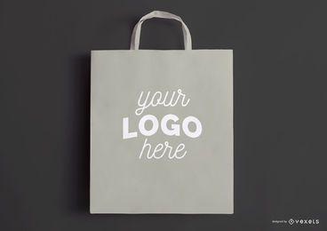 Maquete de sacola de compras cinza