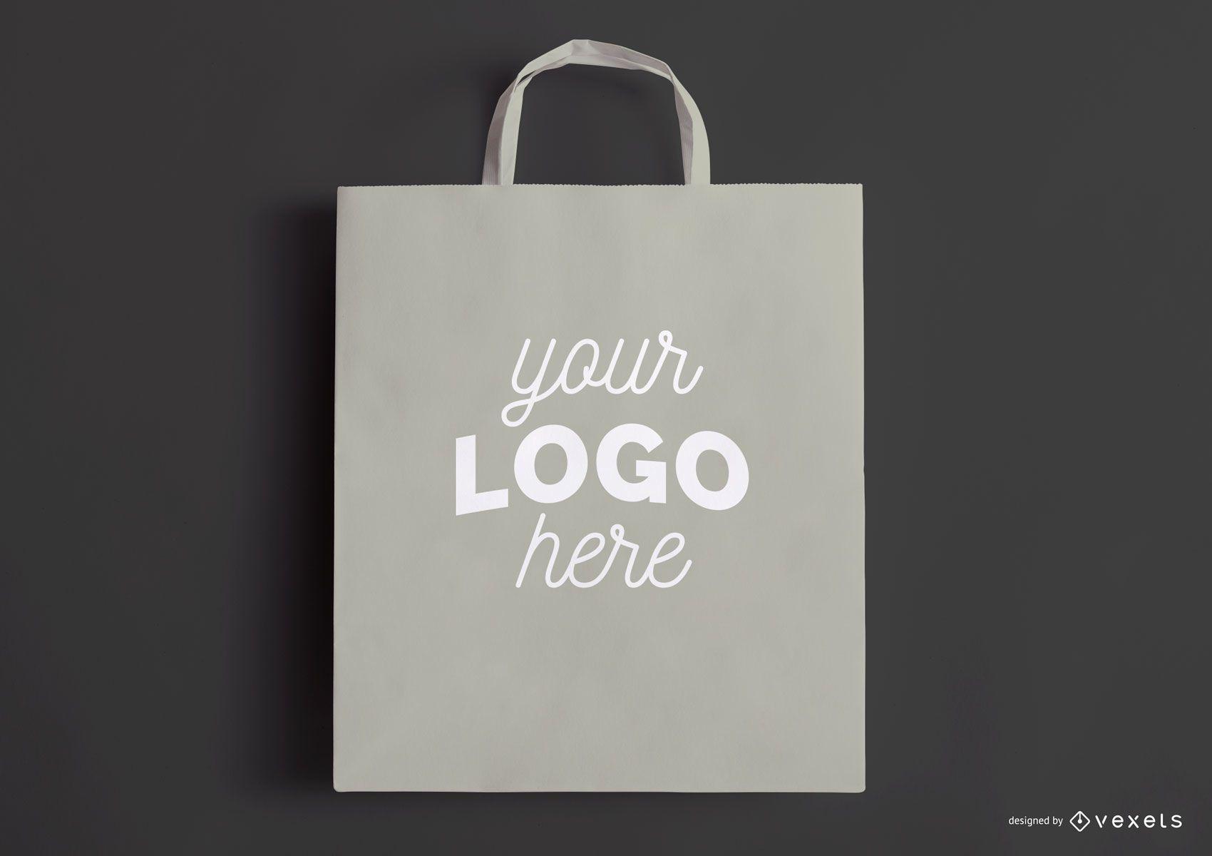 Shopping bag grey mockup