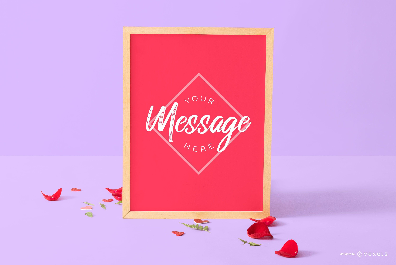 Valentine's day board mockup
