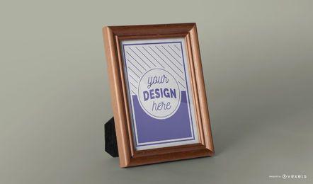 Design de maquete de quadro de imagem