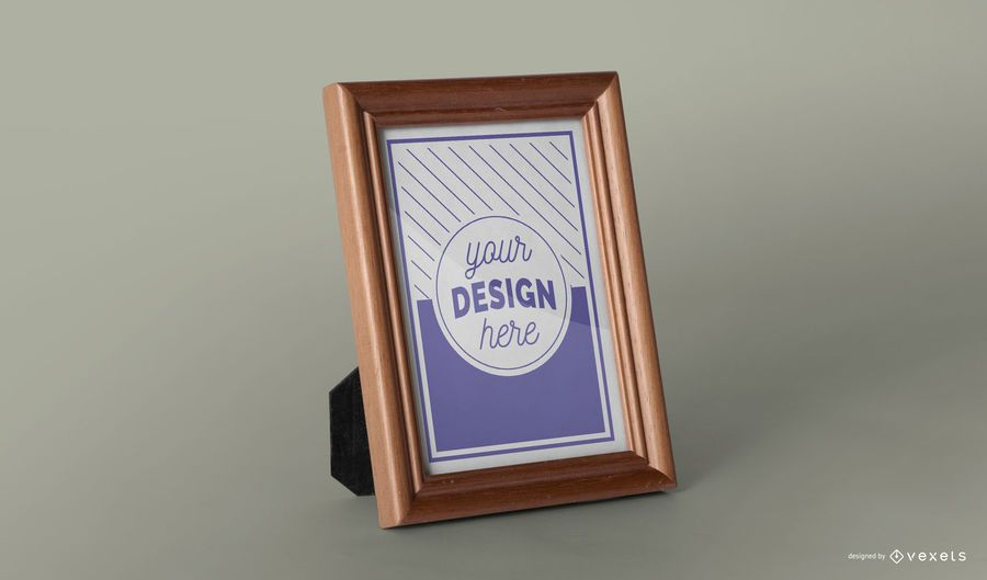 Picture frame mockup template