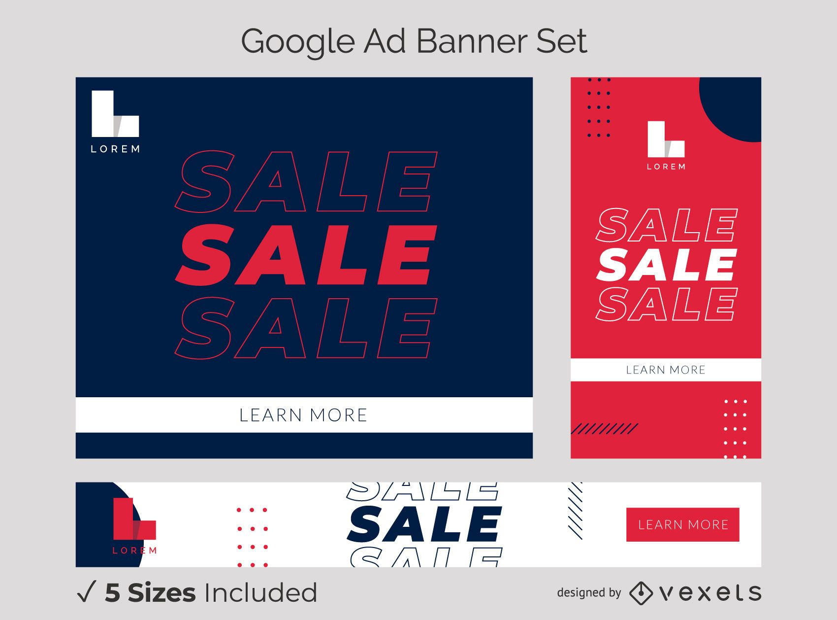 Be bold ad banner set