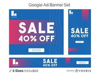 Verkauf Fettdruck Banner Set