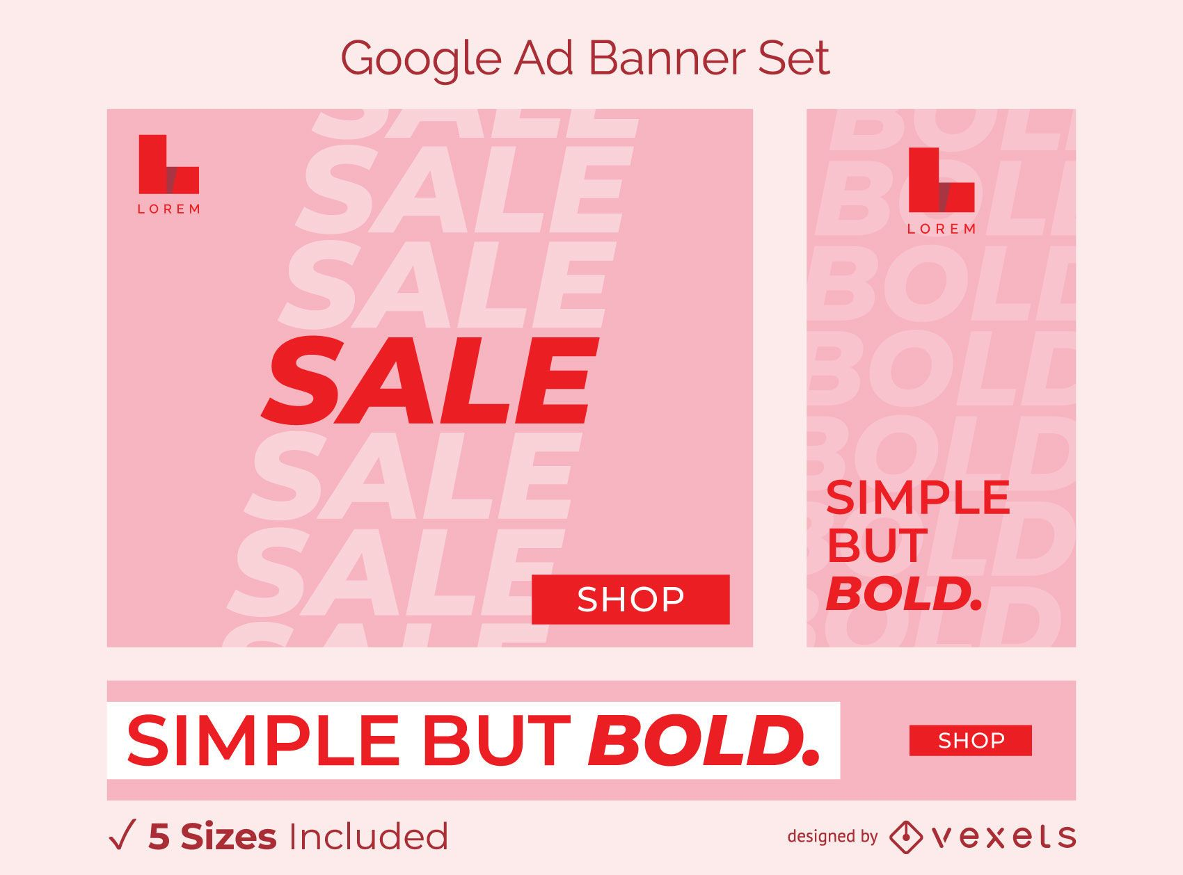 Simple bold ad banner set