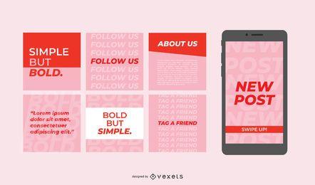Publicaciones simples y audaces en las redes sociales