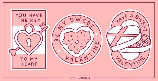 Conjunto de insignias de San Valentín