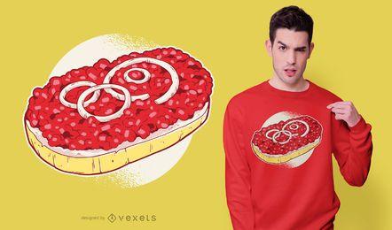 Diseño de camiseta de sushi de carne