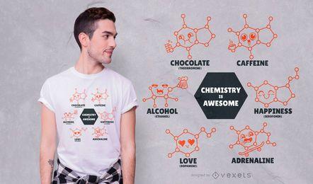 La química es un diseño de camiseta impresionante