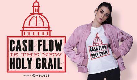 Diseño de camiseta de flujo de efectivo
