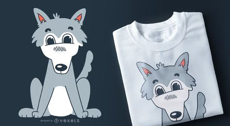 Cute wolf t-shirt design