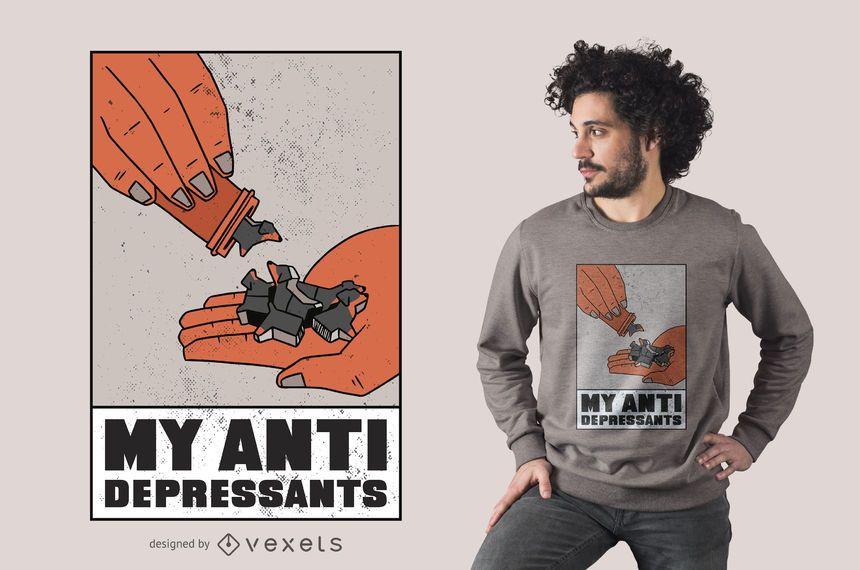 Diseño de camiseta de mis antidepresivos