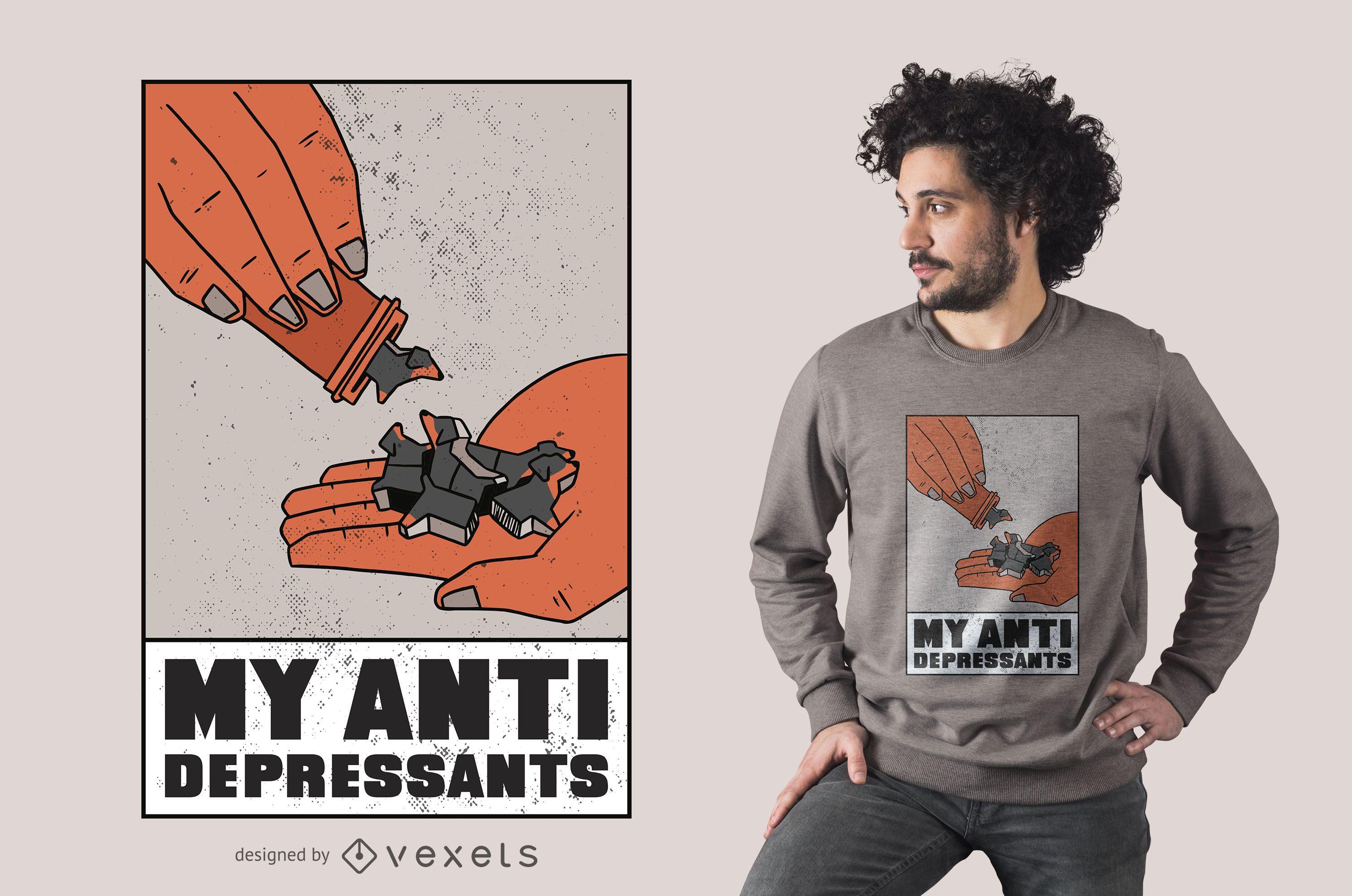 My antidepressants t-shirt design