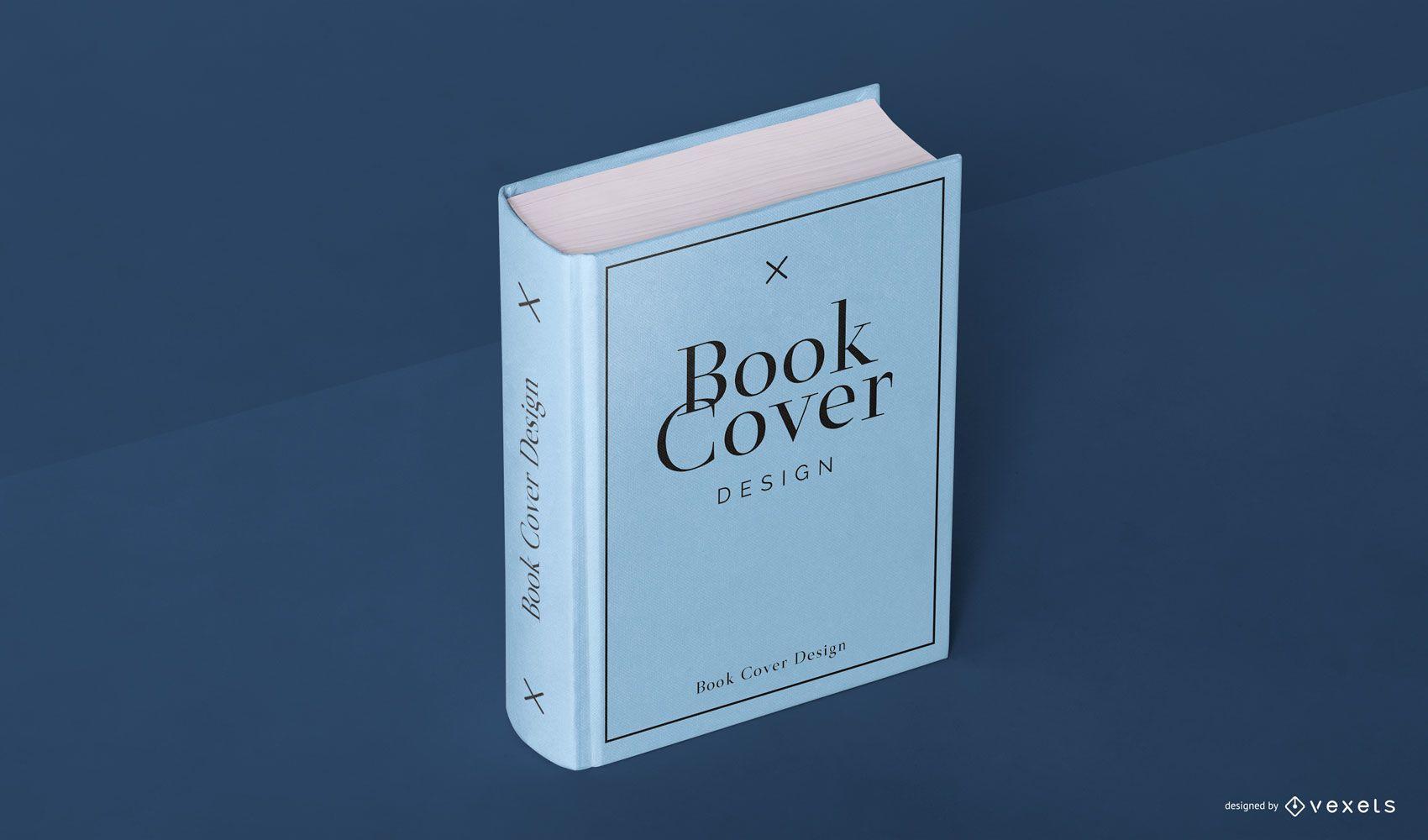 Maqueta de portada de libro psd