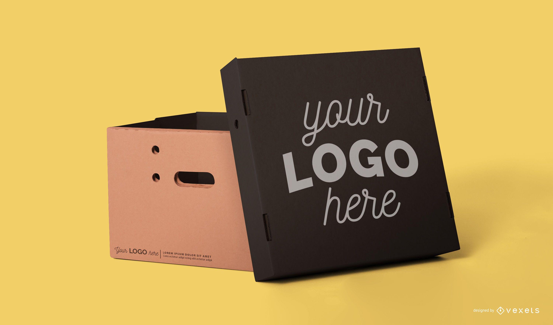 Box packaging mockup psd