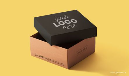Packaging box mockup template