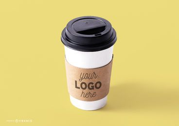 Coffee cup mockup template