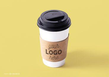Plantilla de maqueta de taza de café