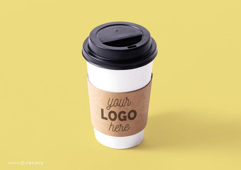 Modelo de maquete de xícara de café