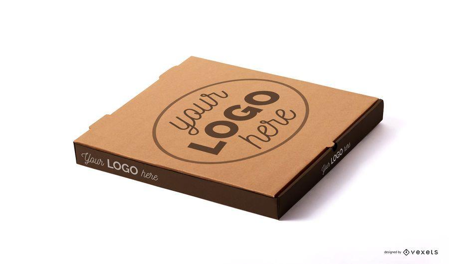 Modelo de maquete de caixa de pizza