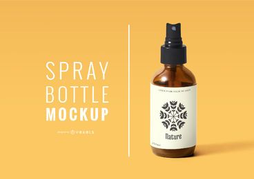 Spray bottle mockup psd