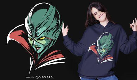 Diseño de camiseta alien queen