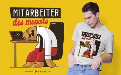Design de t-shirt empregado do mês