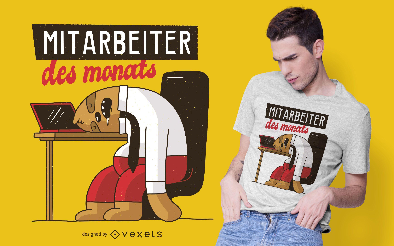 Diseño de camiseta de empleado del mes
