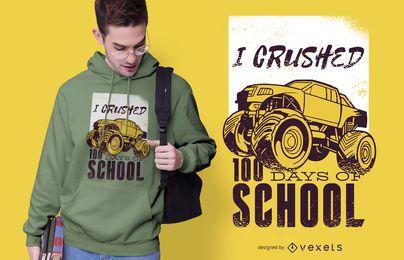 Diseño de camiseta de monster truck
