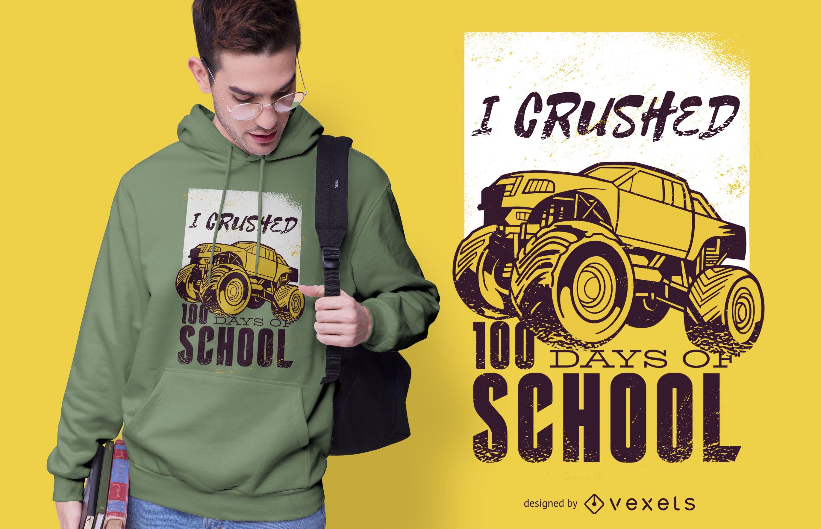 Monster truck t-shirt design