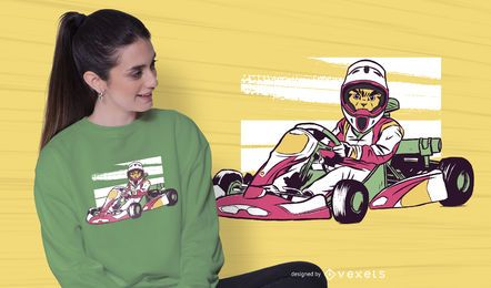 Racing cat t-shirt design