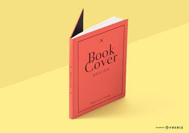 Design de maquete de capa de livro