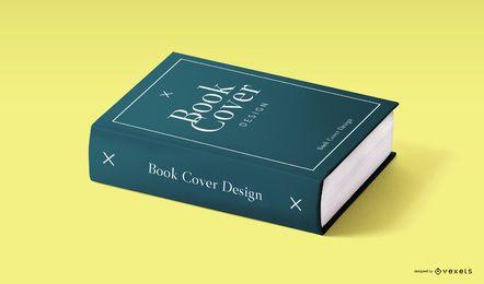Maquete de design de capa de livro psd
