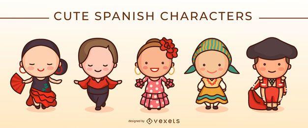 Lindo juego de caracteres españoles