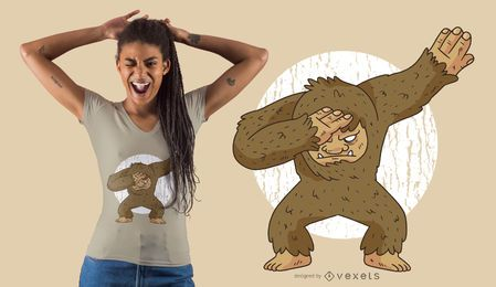 Diseño de camiseta Bigfoot Dabbing
