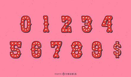 Conjunto de números de carnaval