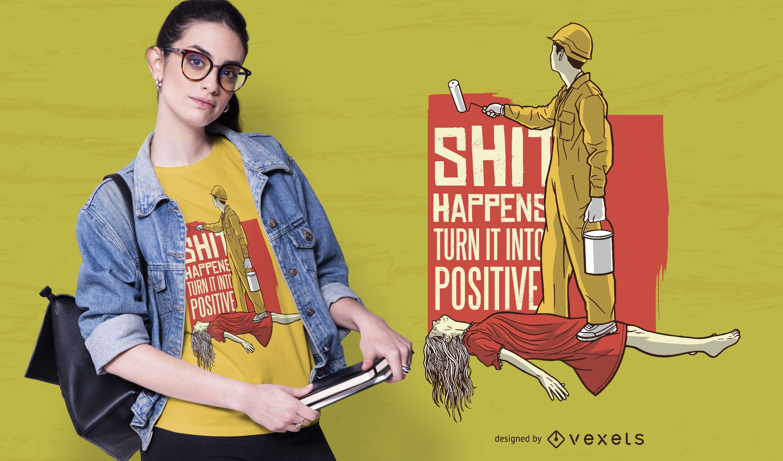 Design de camisetas engraçadas de citações de exorcismo