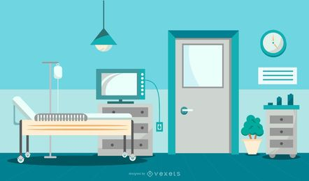 Hospital Room Graphic Design