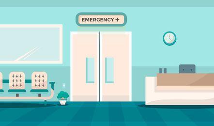 Diseño de puerta de sala de emergencia