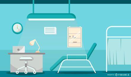 Consultorio médico Hospital Diseño gráfico