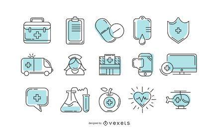 Coleção de ícones de hospitais