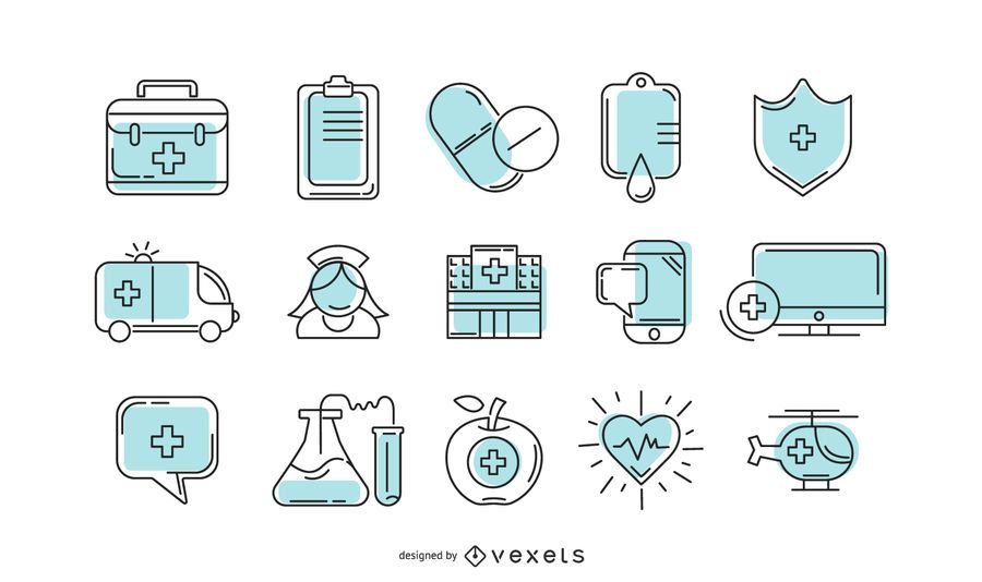 Hospital icon collection