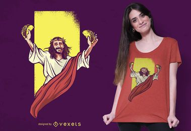 Design de t-shirt de Jesus taco