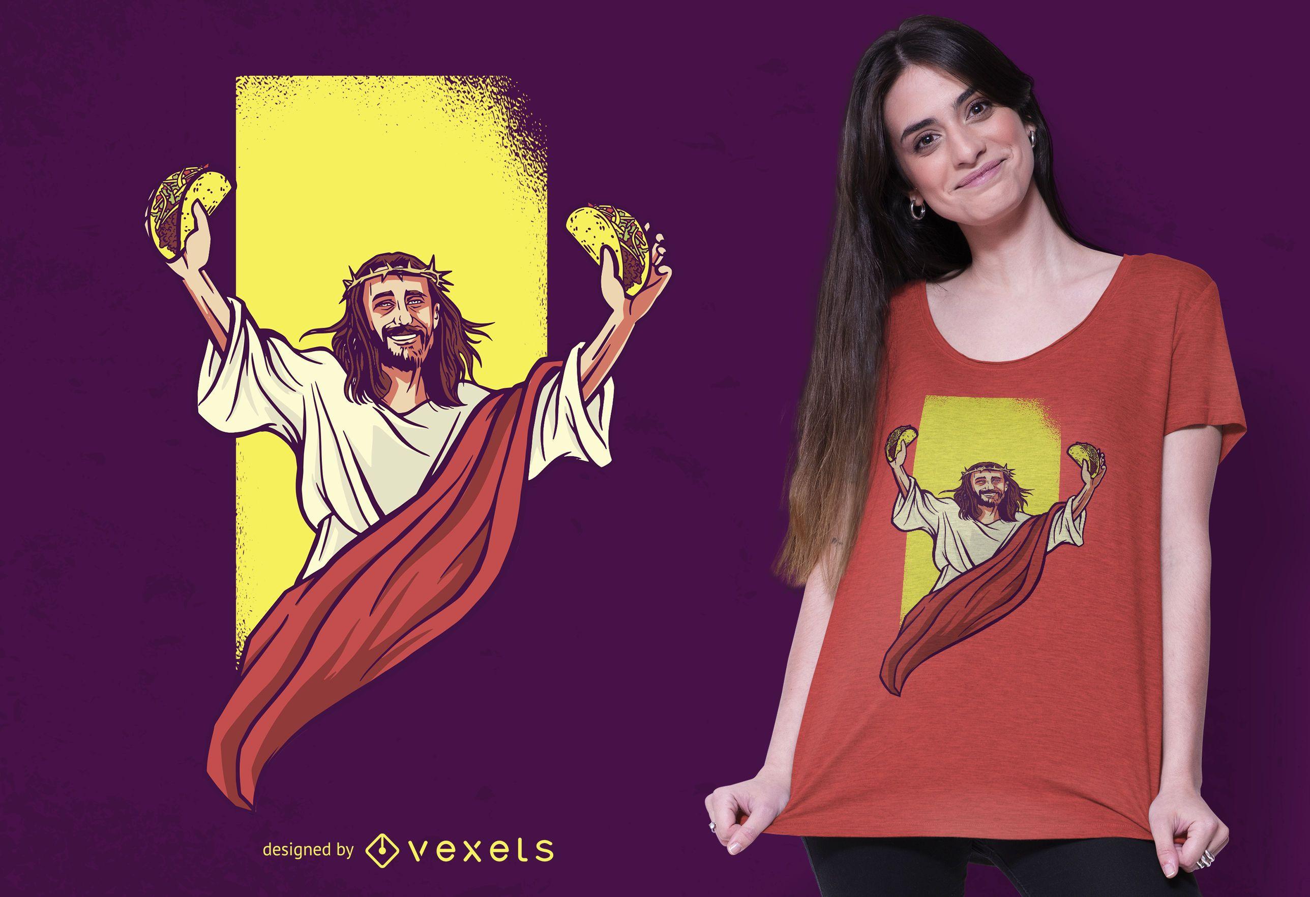 Diseño de camiseta Jesus Taco