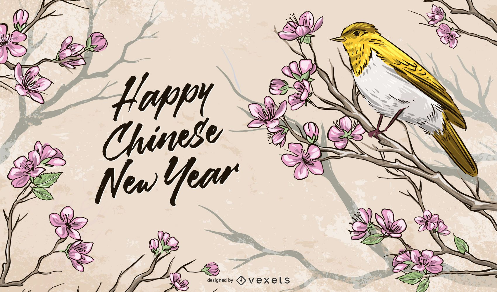 Lunar Chinese New Year Illustration