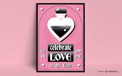 Plantilla de póster de san valentín