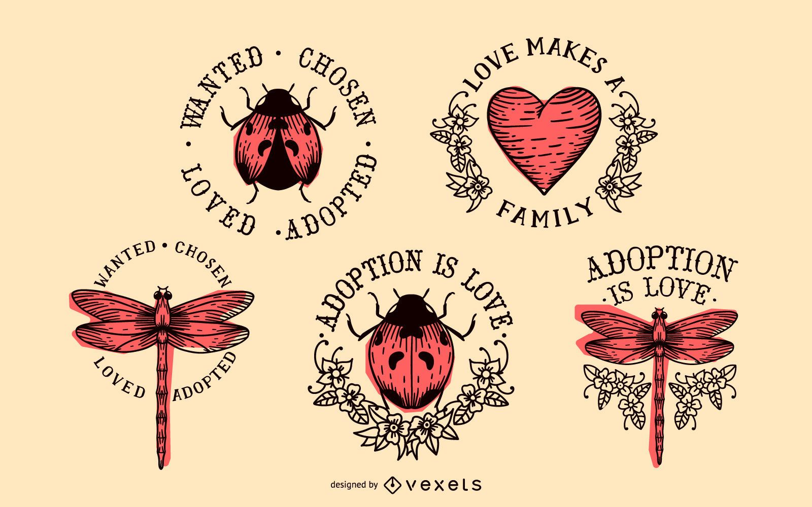 Adoption badge pack