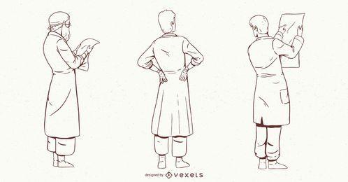 Männlicher Doktorzeichensatz